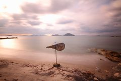 Seaside town of Turgutreis. And spectacular sunsets stock photography