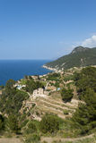 Seaside town. View on seaside town, Mallorca, Spain Royalty Free Stock Image
