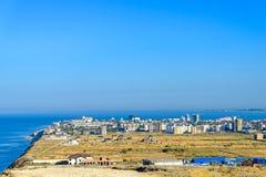 Seaside town Stock Image