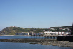 Seaside Towns Aberystwyth Wales UK Stock Photos