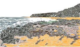 Seaside triangle landscape Stock Photography