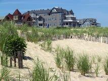 Seaside Victorian Homes; Ocean Grove, NJ. Vintage houses by Atlantic Ocean in historic New Jersey town Royalty Free Stock Image