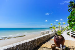 Seaside view. Beach landscape seaside sky asia Stock Photo