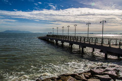 Seaside. View at Eastern & Oriental Hotel, Penang, Malaysia Stock Photography