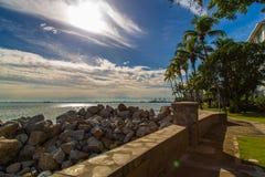 Seaside. View at Eastern & Oriental Hotel, Penang, Malaysia Royalty Free Stock Photos