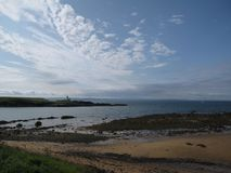Seaside View at Elie stock images