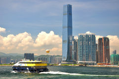 Seaside view in Hongkong West Kowloon Royalty Free Stock Photography