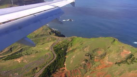 Seaside view from landing plane Stock Images