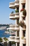 Seaside view in Monaco , Monte Carlo  Big Apartments Stock Photos