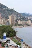 Seaside view of Monaco Monte-Carlo Stock Photos