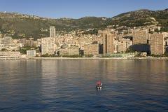 Seaside view of Monte-Carlo, the Principality of Monaco, Western Europe on the Mediterranean Sea Stock Image