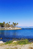 Seaside view over the Mediterranean coast from Antibes, France Stock Photo