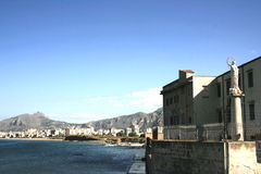 Seaside view of Palermo Royalty Free Stock Photo