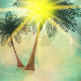 Seaside view poster. Geometric abstract. Stock Image