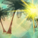 Seaside view poster. Geometric abstract. Royalty Free Stock Image