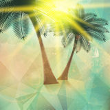 Seaside view poster. Geometric abstract. Royalty Free Stock Photos