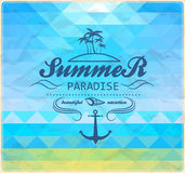 Seaside view poster. summer geometric background. Stock Photography
