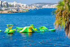 Seaside view from Bugibba Malta Royalty Free Stock Images