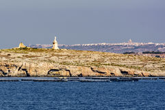 Seaside view from Bugibba Malta. Seaside view from rocky Bugibba Malta Royalty Free Stock Photography