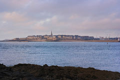Seaside view of Saint Malo Royalty Free Stock Photography