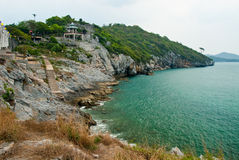 Seaside view at srichang island Royalty Free Stock Photos