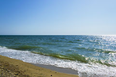 Seaside view, summer beach, vacation. Sea view, summer beach, rest in a very beautiful place Royalty Free Stock Images