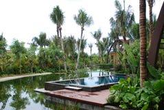 Seaside villa in torrid zone Royalty Free Stock Images
