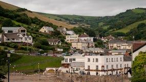 Seaside village, Combe Martin beach stock photos