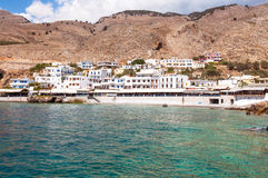 Seaside of the village Hora Sfakion on Crete Royalty Free Stock Photos