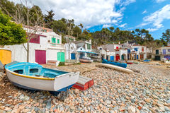 Seaside village of Spanish Royalty Free Stock Photography