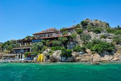 Seaside village in Turkey  island of Kekova. Royalty Free Stock Photography