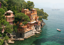 Seaside Villas near Portofino, Italy Stock Photos
