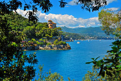 Seaside villas near Portofino in Italy Stock Photography