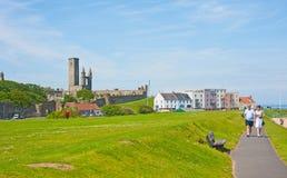 Seaside walk at St Andrews Stock Image