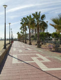 Seaside Walkiway, Aguilas Town Stock Photos