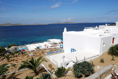 Seaside White Building. A whitewash building face to aegean sea Stock Photography