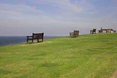 Seaside. Whitstable, Kent. Seaside. Bench. Whitstable, Kent. England. UK Royalty Free Stock Photos