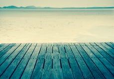 Seaside wooden bridge Royalty Free Stock Photo
