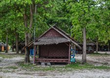 Seaside wooden cottages on Koh Lipe royalty free stock photography