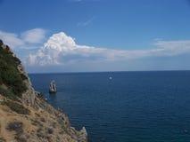 Seaside, Yalta. Seaside near Lastochkino gnezdo palace, Yalta, Crimea Stock Photos