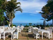 Seasiderestaurant. Seaside restaurant seaview Royalty Free Stock Images