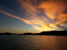 Seasilhouette. Sea  sky shadow Stock Photos