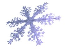 Season. 3D-modelled snowflake representing the notion of meteorology Royalty Free Stock Images