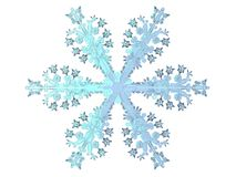 Season. 3D-modelled snowflake representing the notion of festive season Stock Photo