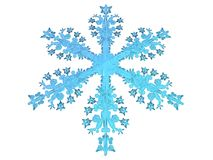 Season. 3D-modelled snowflake related to notions such as winter, purity and christmas Stock Photography