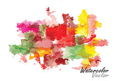 Season abstract background ,vector watercolor brush design Stock Photo