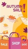 Season autumn nature sale banner