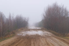 Season of bad roads Stock Photo