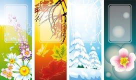 Season banners Stock Photo