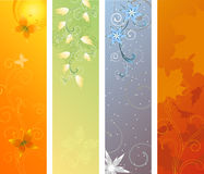 Season banners Vector illustration. Season banners. Summer, Spring, Winter, Autumn. Vector illustration. All elements are on different layers vector illustration